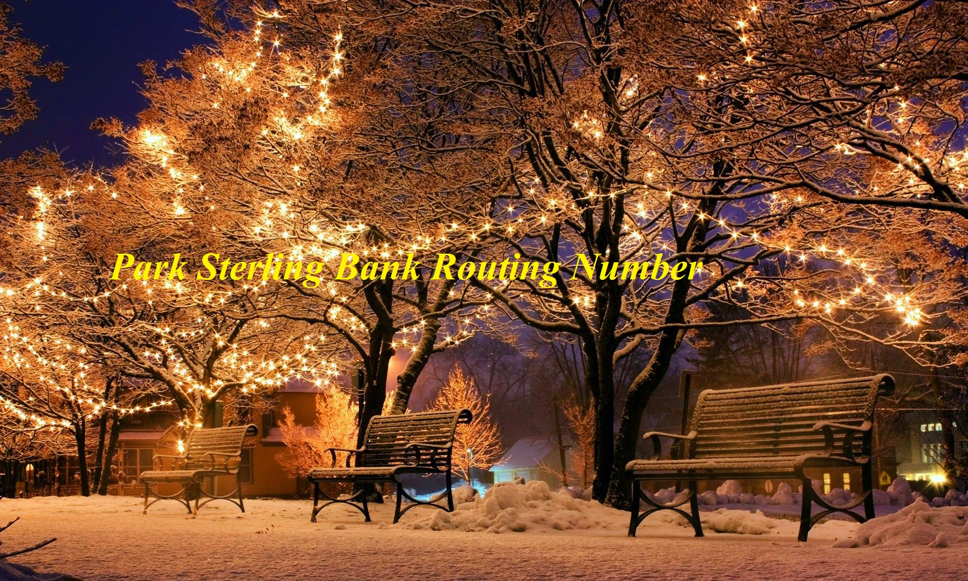 Park Sterling Bank Routing Number