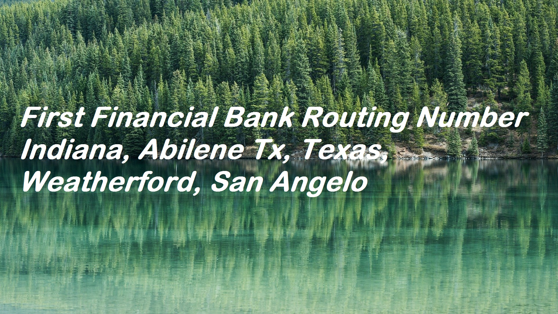 First Financial Bank Routing Number