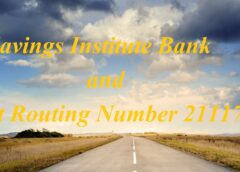 Savings Institute Bank and Trust Routing Number 211174181